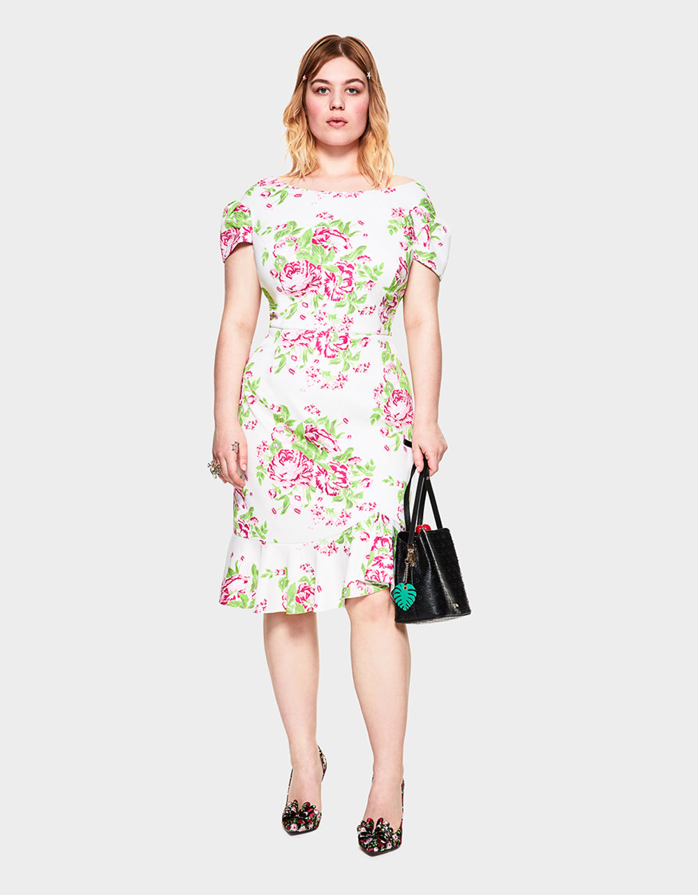 ROMANTIC GARDEN DRESS MULTI (EXTENDED SIZING) - APPAREL - Betsey Johnson