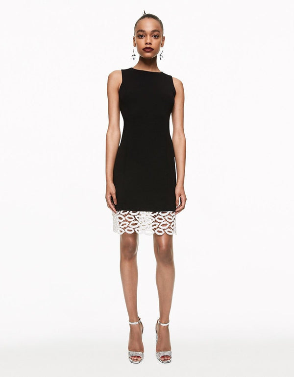 LIP LACE MIDI DRESS BLACK - APPAREL - Betsey Johnson