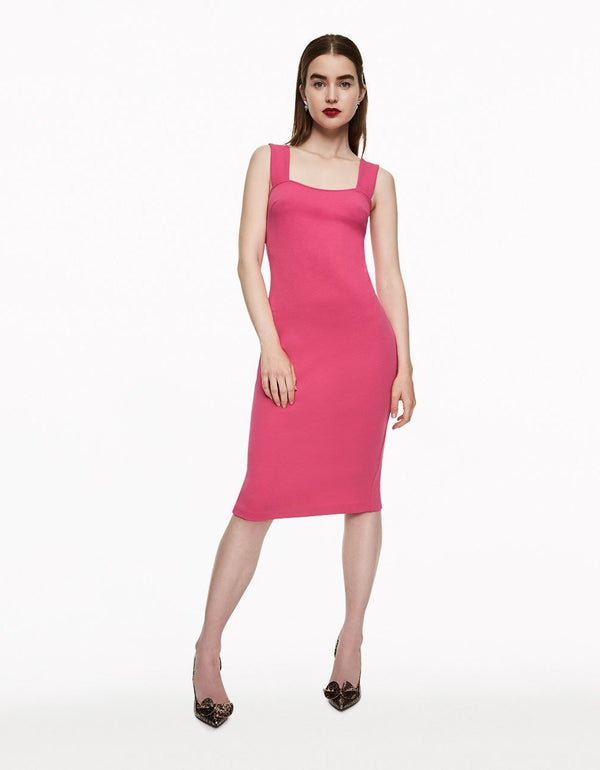 PARTY GIRL MIDI DRESS PINK - APPAREL - Betsey Johnson