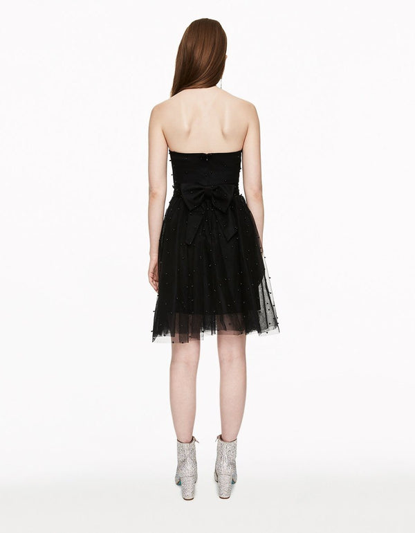 PERFECT PEARL PARTY DRESS BLACK - APPAREL - Betsey Johnson