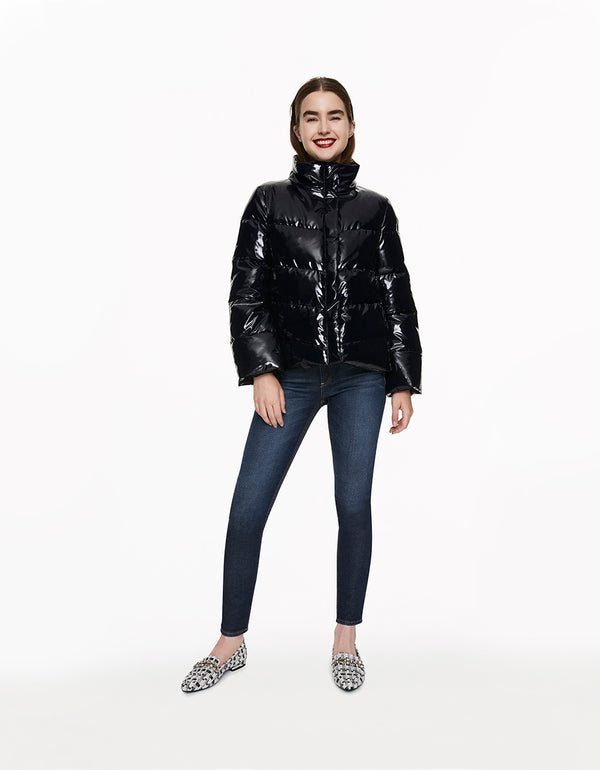 BETSEYS BEST PUFFER JACKET BLACK - APPAREL - Betsey Johnson