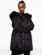 SUPER STAR PUFFER COAT BLACK - APPAREL - Betsey Johnson
