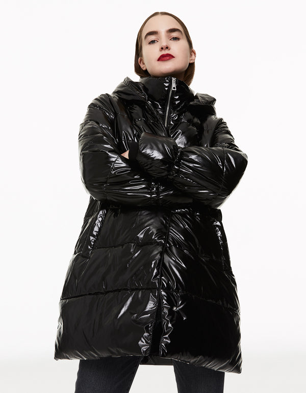 CLASSICALLY BETSEY PUFFER COAT BLACK - APPAREL - Betsey Johnson