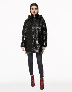 CLASSICALLY BETSEY PUFFER COAT BLACK