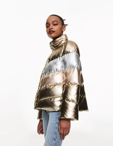 BETSEYS BEST PUFFER JACKET GOLD