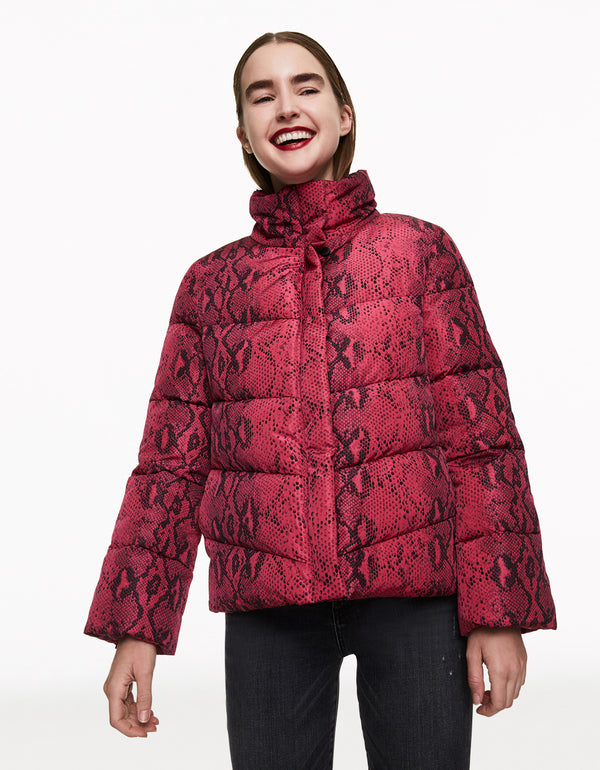 BETSEYS BEST PUFFER JACKET PINK - APPAREL - Betsey Johnson