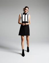 ALL THE TRIMMINGS DRESS BLACK-WHITE - APPAREL - Betsey Johnson