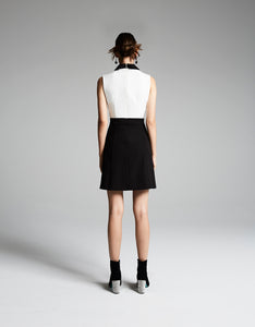 ALL THE TRIMMINGS DRESS BLACK-WHITE