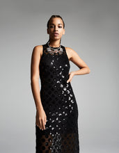 DARING DOTS MIDI DRESS BLACK - APPAREL - Betsey Johnson