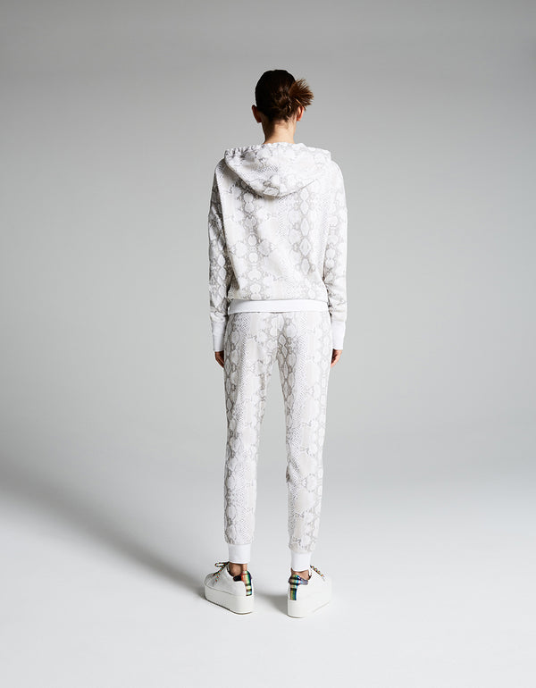 WIDE CUFF PYTHON HOODIE WHITE - APPAREL - Betsey Johnson