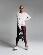 BRUSHED BOYFRIEND SWEATSHIRT MAUVE - APPAREL - Betsey Johnson