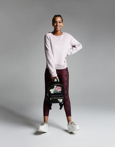 BRUSHED BOYFRIEND SWEATSHIRT MAUVE