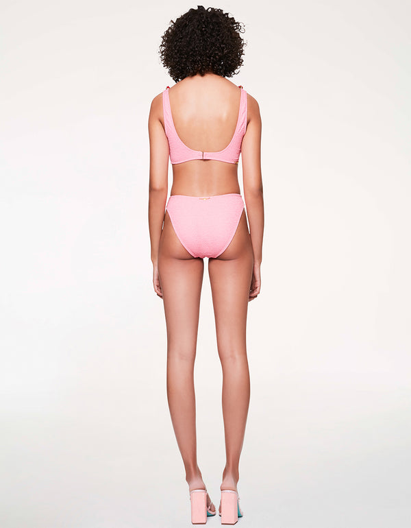 SCRUNCH BRUNCH HIGH WAIST BOTTOM PINK - APPAREL - Betsey Johnson