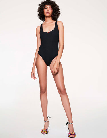 SCRUNCH BRUNCH ONE PIECE BLACK
