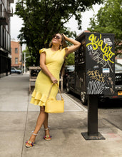 RUFFLED UP DRESS YELLOW - APPAREL - Betsey Johnson