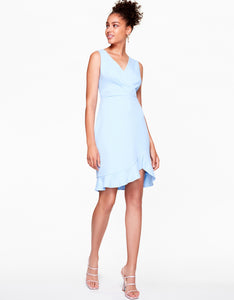 SHIFTING RUFFLES DRESS LIGHT BLUE