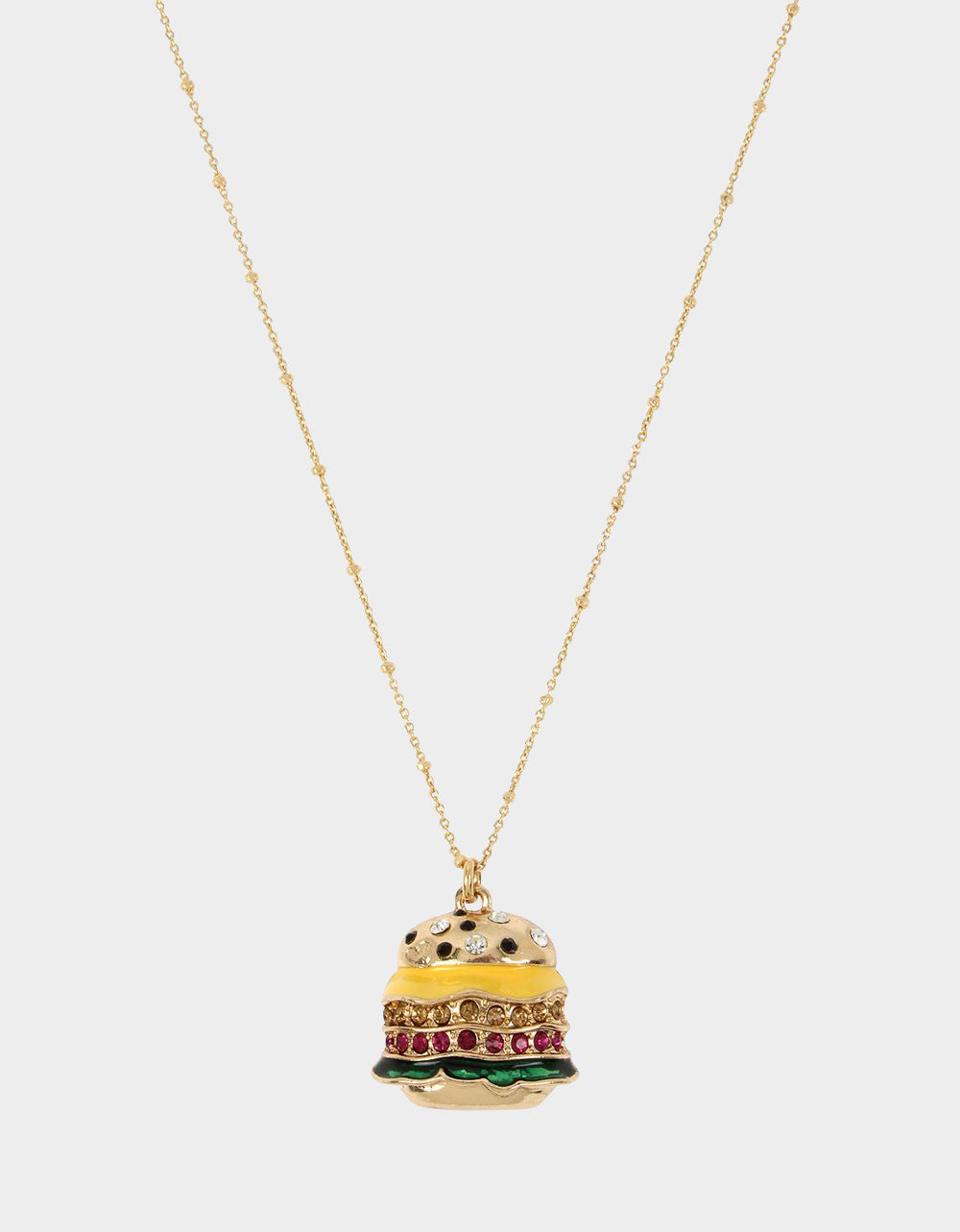 SNACK ATTACK BURGER PENDANT MULTI - JEWELRY - Betsey Johnson