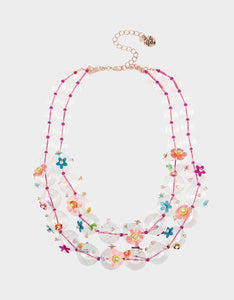 BEACH PARTY STATEMENT NECKLACE MULTI