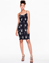 BETSEYS VINTAGE INSPIRED SLIP DRESS BLACK-WHITE - APPAREL - Betsey Johnson