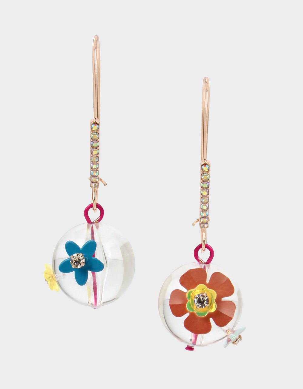 BEACH PARTY FLOWER HOOK EARRINGS MULTI - JEWELRY - Betsey Johnson
