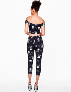 BETSEYS VINTAGE INSPIRED LEGGING BLACK-WHITE