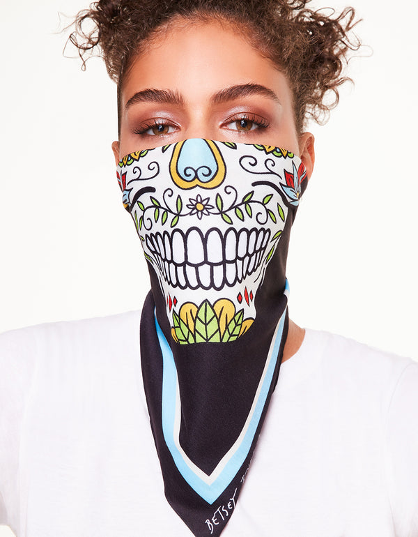 BJ SKULL BANDANA MULTI - JEWELRY - Betsey Johnson