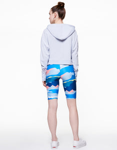 EXTENDED CUFF HOODIE LIGHT BLUE