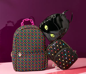 CANDY HEARTS SLING BACKPACK MULTI