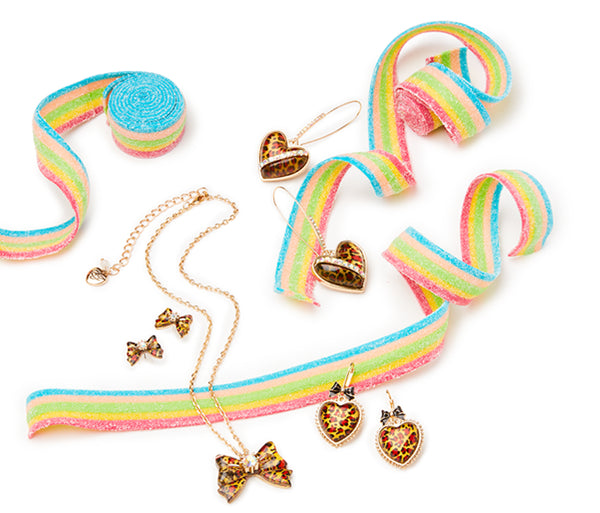 LEAPING LEOPARDS BOW SET LEOPARD - JEWELRY - Betsey Johnson