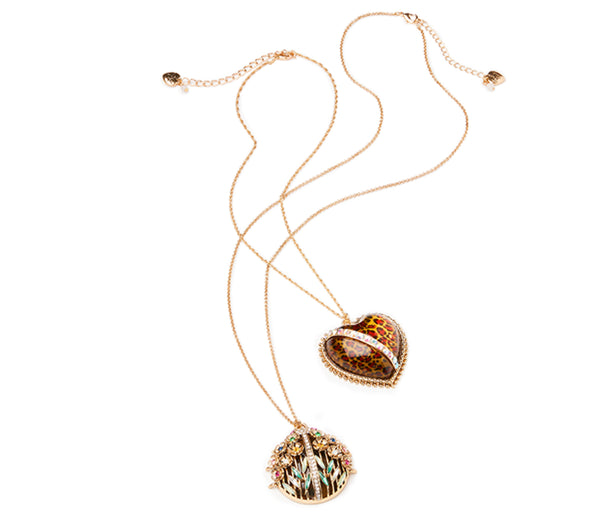 TORTIFLY BUG LONG PENDANT MULTI - JEWELRY - Betsey Johnson