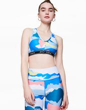 GEOSCAPE LOGO BAND BRA MULTI - APPAREL - Betsey Johnson