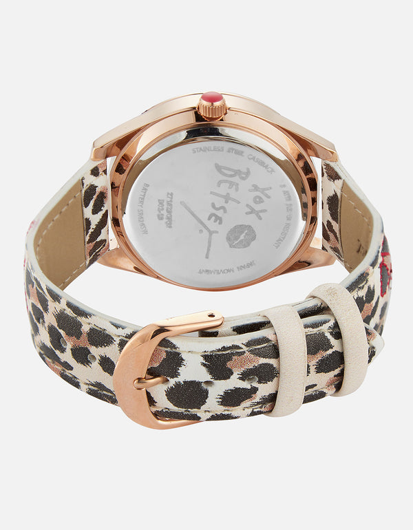 A STITCH IN TIME LEOPARD WATCH LEOPARD - JEWELRY - Betsey Johnson