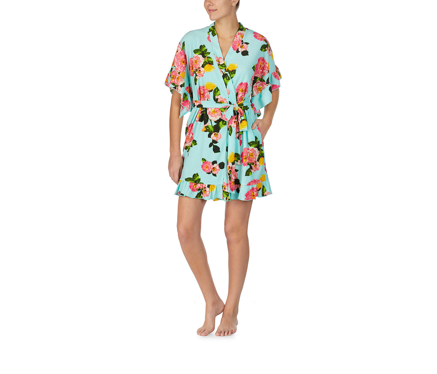 A VINTAGE TERRY ROBE TO REMEMBER FLORAL - APPAREL - Betsey Johnson