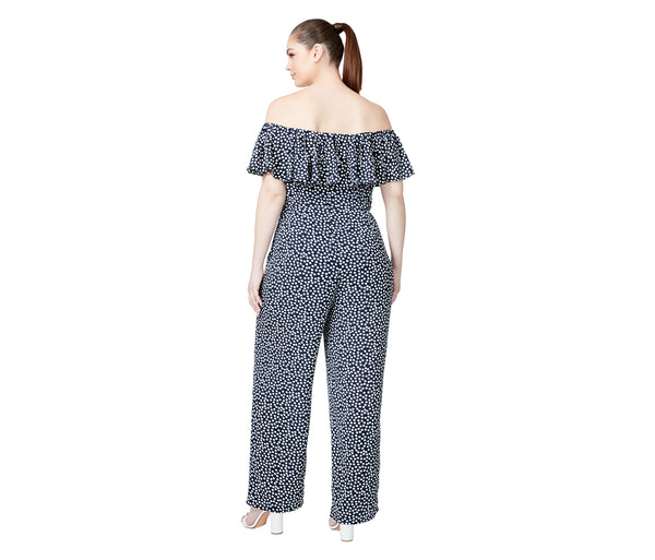 AFTER DARK JUMPSUIT BLACK (EXTENDED SIZING) - APPAREL - Betsey Johnson