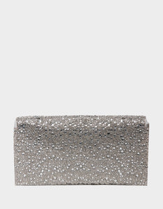 ALL EYES ON ME CLUTCH SILVER