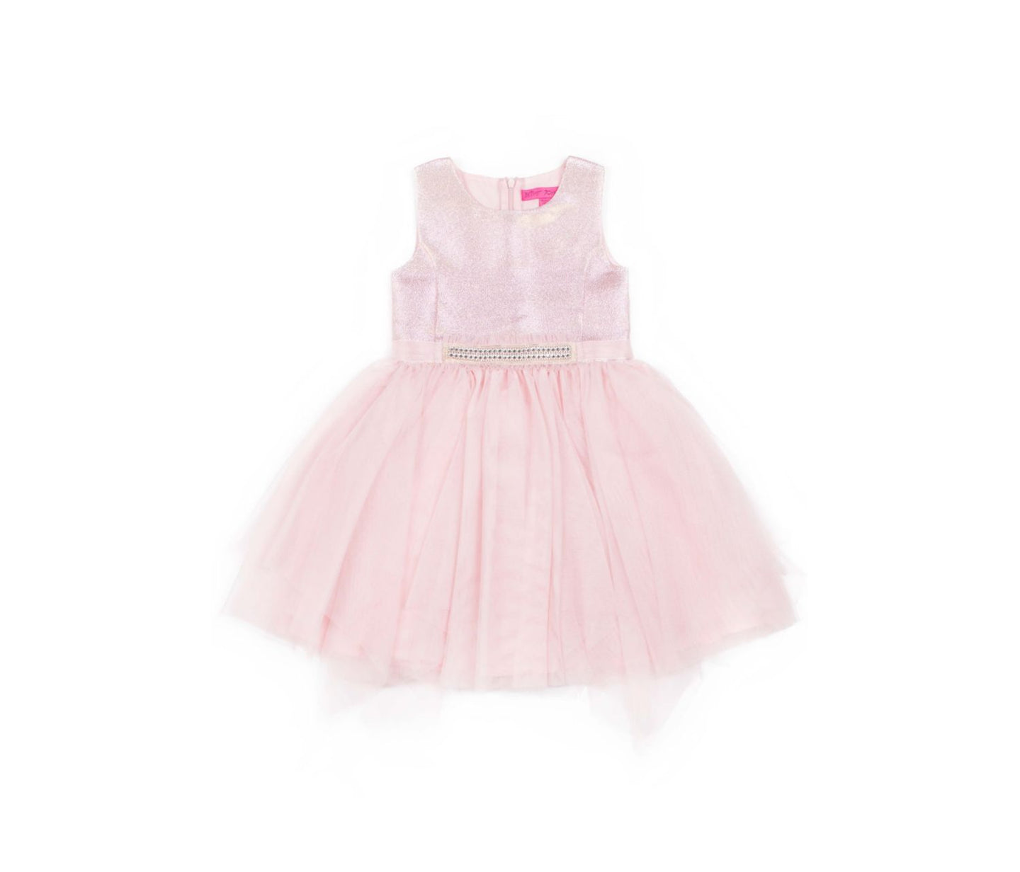ALL THAT GLITTERS 4-6X DRESS PINK - APPAREL - Betsey Johnson
