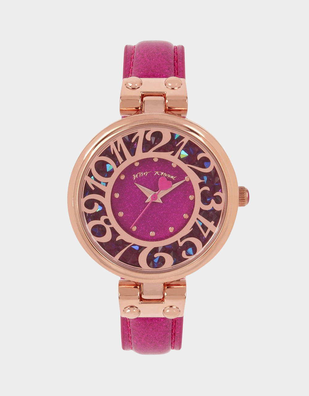 ALL THAT GLITTERS WATCH PINK - JEWELRY - Betsey Johnson