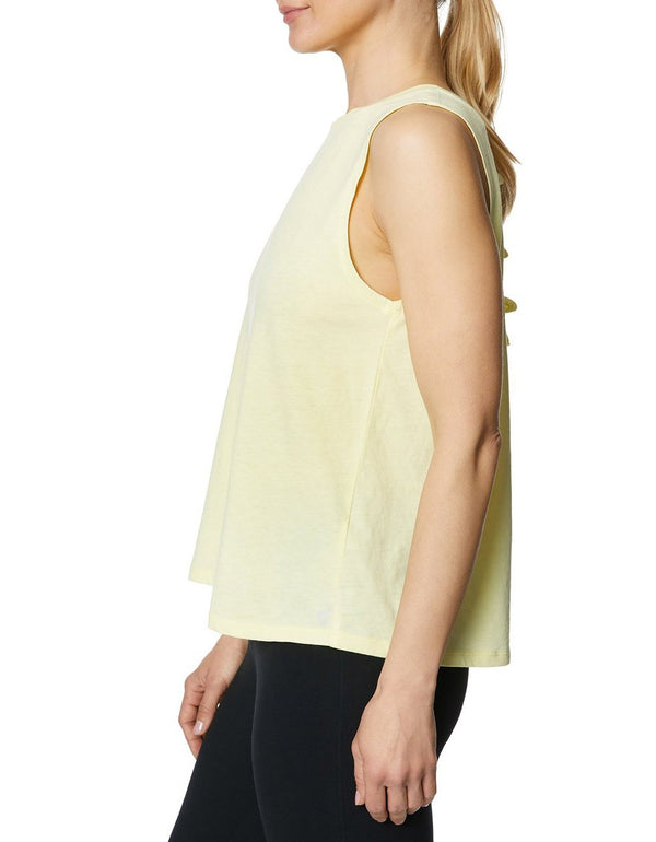 ALL TIED UP MUSCLE TANK LEMON - APPAREL - Betsey Johnson