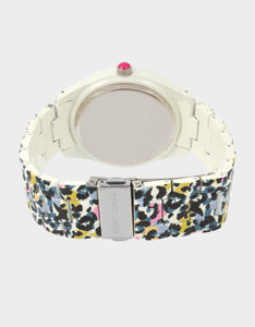 ALLOVER FLORAL WATCH BLACK MULTI