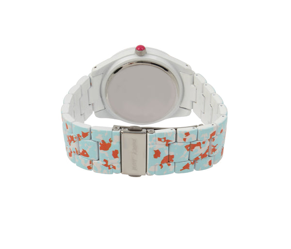 ALLOVER PRINTED WATCH MINT GREEN - JEWELRY - Betsey Johnson