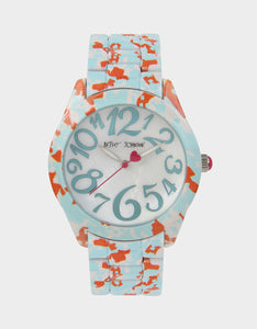 ALLOVER PRINTED WATCH MINT GREEN