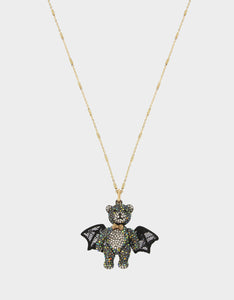 AND BOO TO YOU BAT PENDANT BLACK