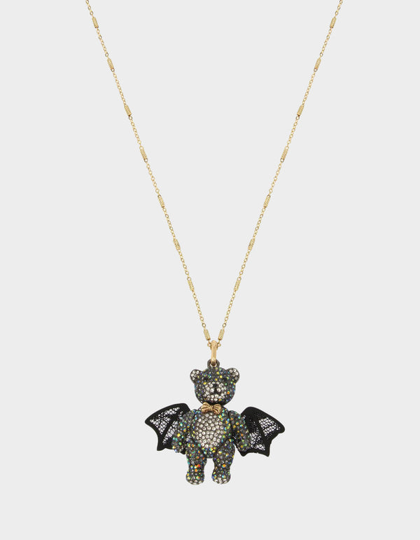 AND BOO TO YOU BAT PENDANT BLACK - JEWELRY - Betsey Johnson