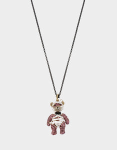 AND BOO TO YOU MUMMY PENDANT PURPLE