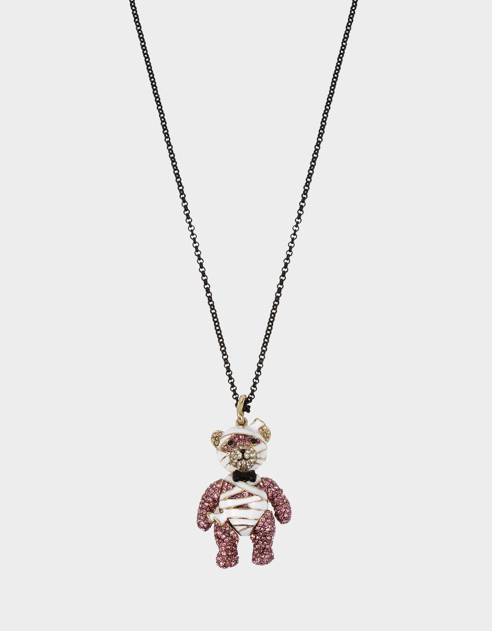 AND BOO TO YOU MUMMY PENDANT PURPLE - JEWELRY - Betsey Johnson