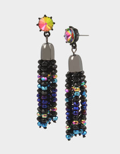 AND BOO TO YOU TASSEL EARRINGS MULTI