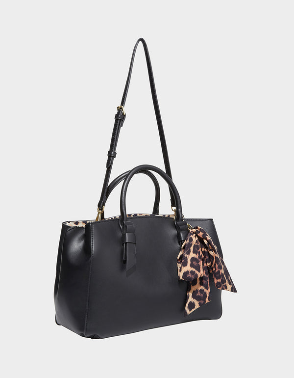 ANYTHING BUT BASIC BETSEY SATCHEL BLACK - HANDBAGS - Betsey Johnson