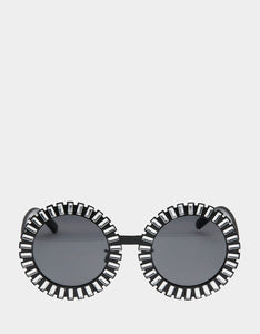 AROUND THE WORLD SUNGLASSES BLACK SILVER