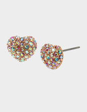 BEACH PARTY HEART STUD EARRINGS MULTI - JEWELRY - Betsey Johnson