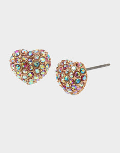 BEACH PARTY HEART STUD EARRINGS MULTI